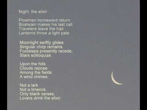 Night, the elixir - Popular English poetry - Subramanian A