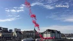 Ballon-Massenstart: 100 Jahre Raiffeisenbank Rorschacherberg-Thal