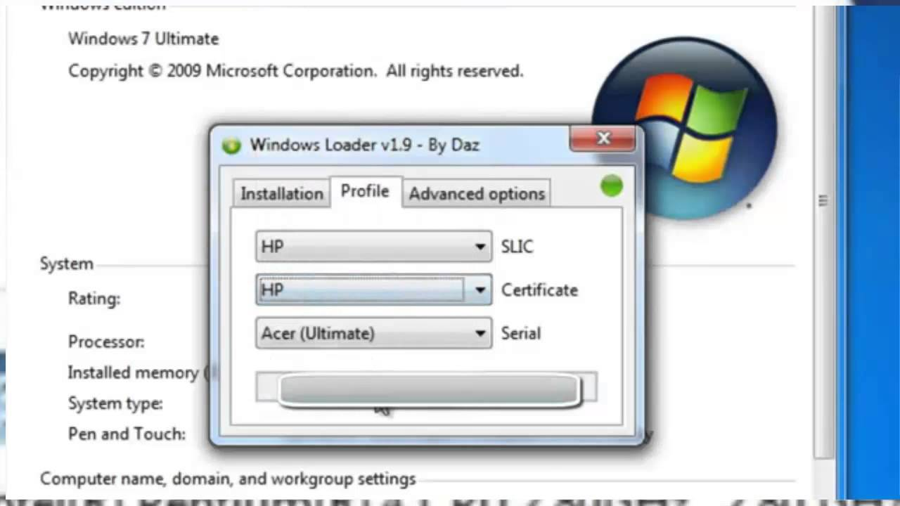 windows 7 loader and activator