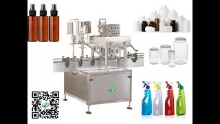 High speed PET bottles capping machine with cap sorting system linear type capper equipment