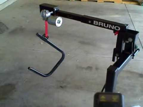 Bruno Curbsider Power Chair Lift   YouTube