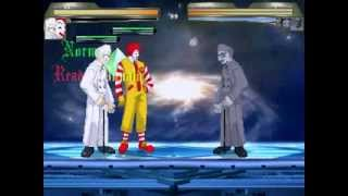 Mugen Donald & Colonel 12p Vs Dark Sanders EX 1p and Ultimate Donald 11p