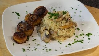 Mushroom Risotto with Pan Seared Scallops - Weber Feature Recipe
