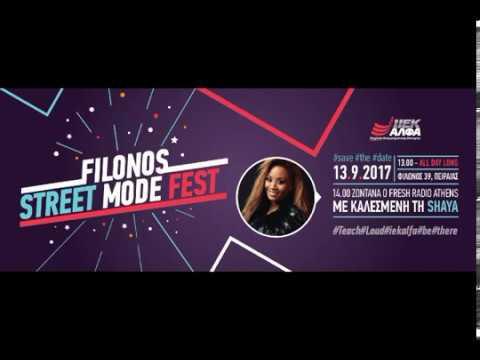 Shaya @ Fresh Radio Athens & Ι.ΙΕΚ ΑΛΦΑ Πειραιά, interview (13/9/2017)