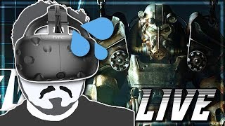 Fallout 4 VR - PC Gameplay Part 1 - Immersive Fallout IRL! (LIVE)
