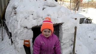 Снежная ХИЖИНА для ребенка
