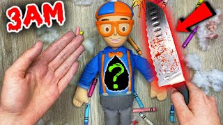 (SCARY) CUTTING OPEN HAUNTED BLIPPI DOLL AT 3AM!! *WHAT'S INSIDE HAUNTED DOLL*