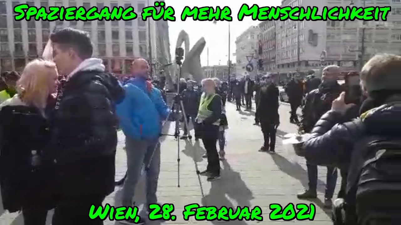 SPAZIERGANG FÜR MEHR MENSCHLICHKEIT in WIEN am 28. Februar 2021