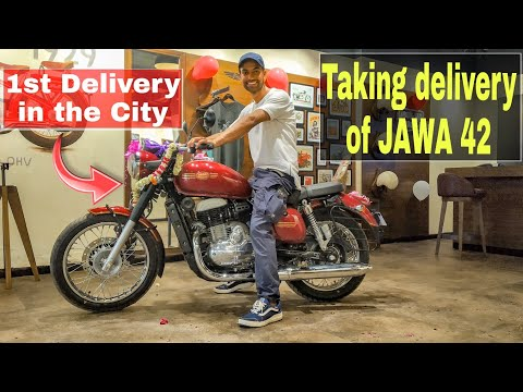 Taking Delivery Of 1st JAWA 42 | JAWA Is BACK