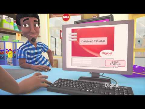 Send a Top Up to your family from abroad with Digicel International Top Up