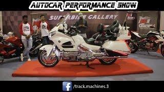 Honda Gold Wing Superbike in AutoCar performance SHOW 2017 MUMBAI BKC   TEAM TRACK MACHINES