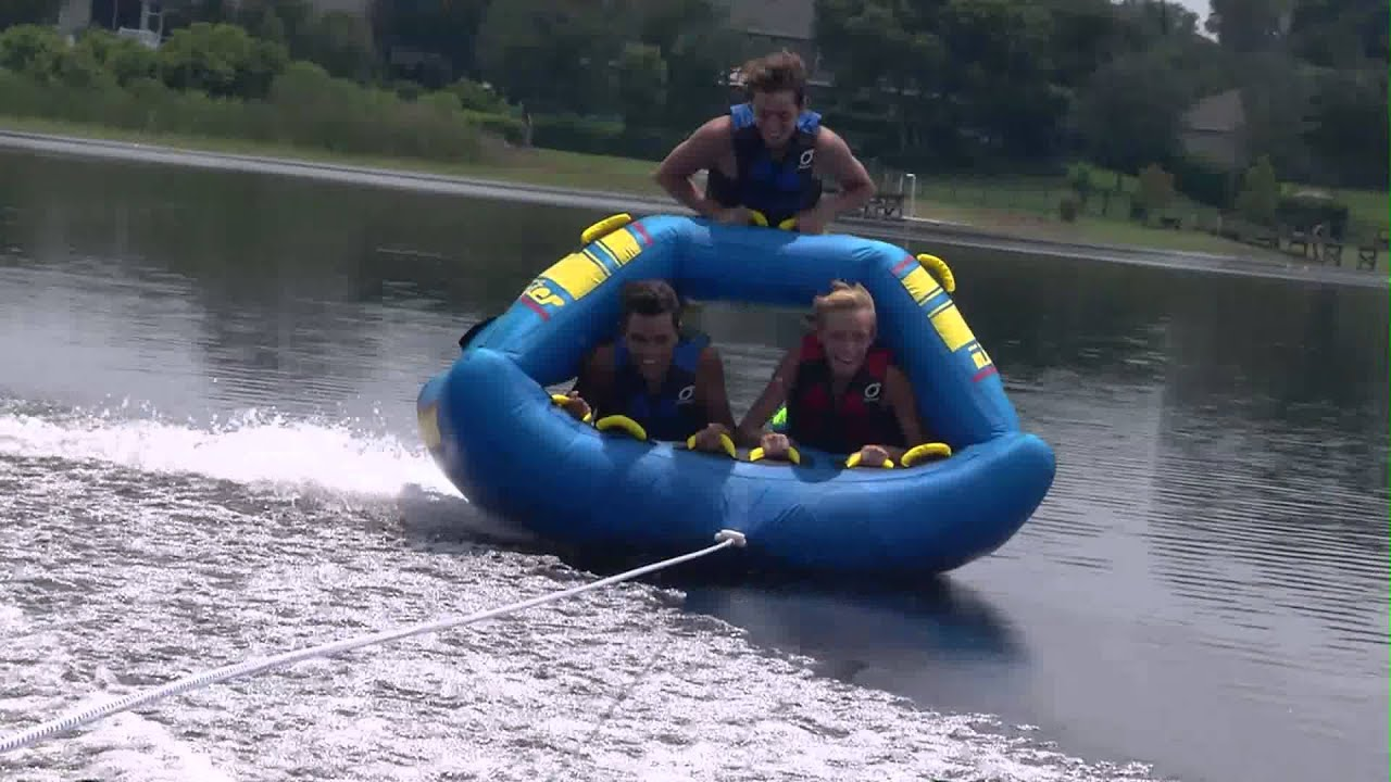 gladiator hitchhiker 3person towable tube youtube