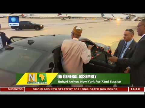 Buhari Arrives New York For 72nd UN General Assembly   Network Africa  