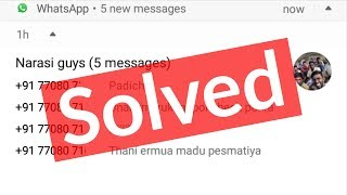 Whatsapp notification problem-fix message not showing-android mobile-sound working on home screen-solve. ------------------------------------------------...