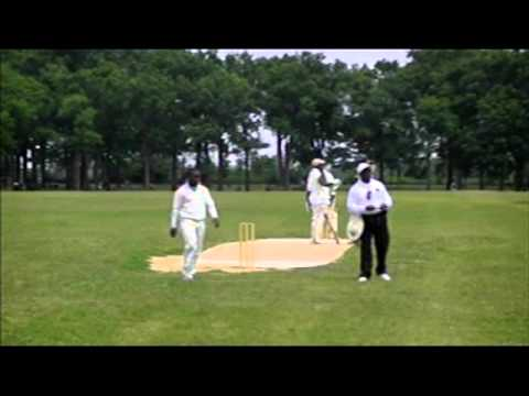 Derval Green, former Jamaica youth player, batting in Brooklyn cricket league