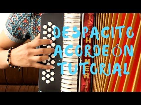 Despacito - Luis Fonsi ft Daddy Yankee Mulett acordeón tutorial sencillo