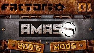 Let's Play Bobs Mod Factorio - Amass - Episode 1