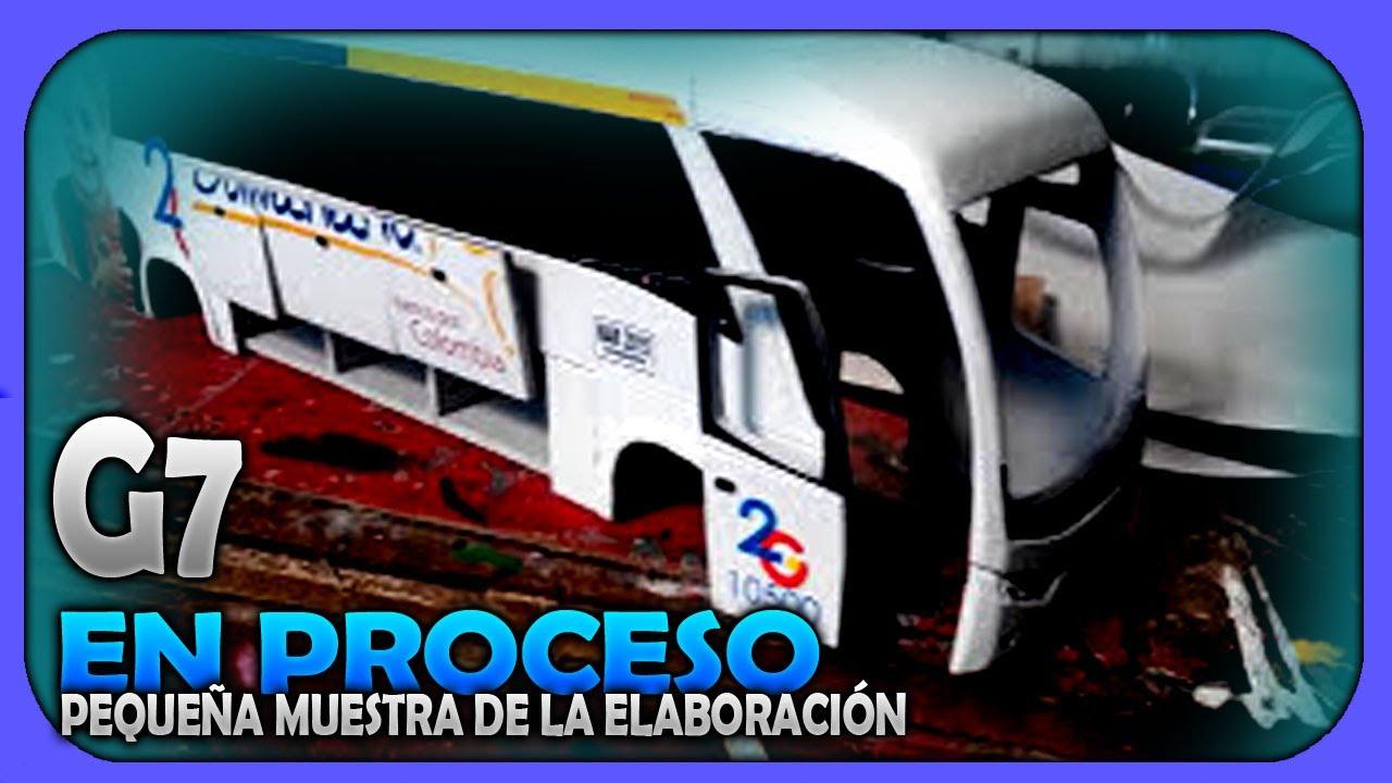 Proceso Maqueta Bus Marcopolo G7 Repli Cart Youtube