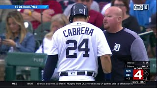 Miguel Cabrera out for season after rupturing left bicep tendon