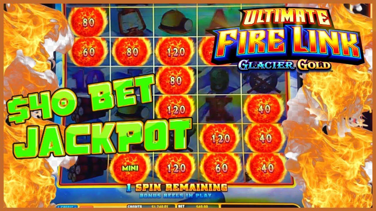 🔥Ultimate Fire Link Glacier Gold HANDPAY JACKPOT  🔥HIGH LIMIT $40 Bonus Round Slot Machine Casino 🔥