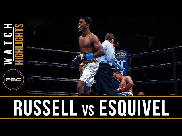 Russell vs Esquivel Full Fight: August 4, 2018