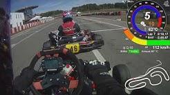 Wackersdorf Kart 2018.08.12 Session 5 Telemetrie Data Onboard helmet Cam DR TM KZ10 GPS05 Extreme