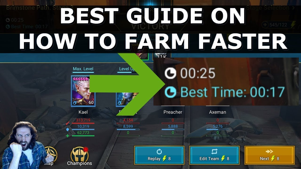 Raid Shadow Legends How To Farm Faster With Starter Champions Grind With Kael Best Heroes Guide Youtube