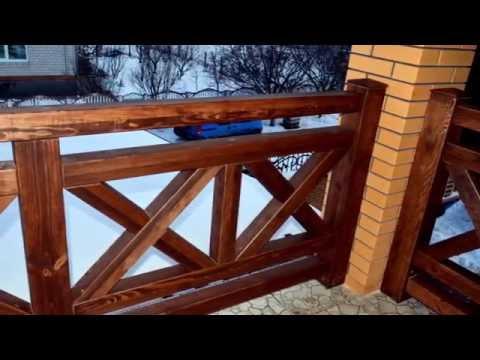 Ограждения для балконов и террас из дерева.