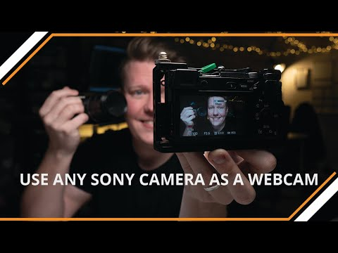 USE SONY CAMERA AS A WEBCAM (NO CAPTURE CARD) PC ONLY A6300/a6400/a6500/a6600/a7sii/a7rii/a7riii
