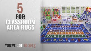 Top 10 For Classroom Area Rugs [2018 ]: Ottomanson Jenny Collection Light Blue Frame with Multi