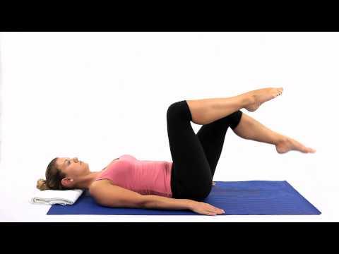 Pilates Knee folds Scissors part 2/3