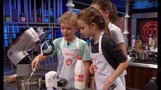 Oskar miał problem ze swoim daniem ale mógł liczyć na pomoc innych kucharzy [MasterChef Junior]