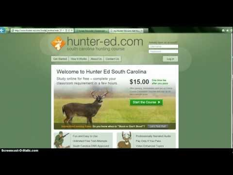 Online Hunters Education Instructions