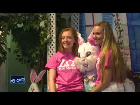 Easter Bunny rolls to National Railroad Museaum