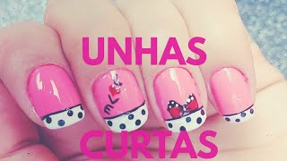 Decorando unhas curtas