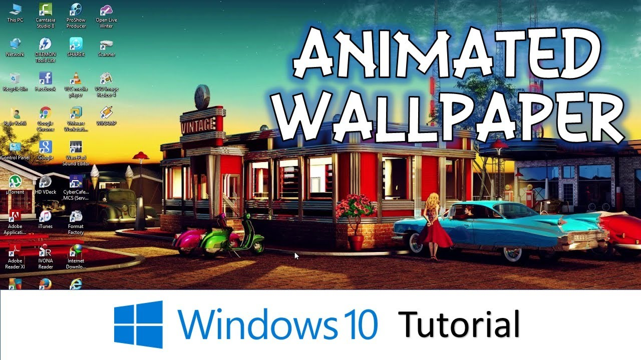 How To Have Animated Desktop Background Wallpaper | Microsoft Windows 10 Tutorial - YouTube