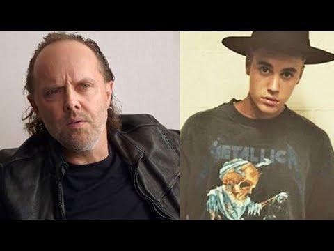 Lars Ulrich Reacts To Justin Bieber, Kanye West Wearing Metallica Shirts | Rock Feed