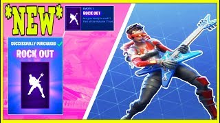 *NEW* 'ROCK OUT' EMOTE ON 42 SKINS! (Fortnite Battle Royale!)