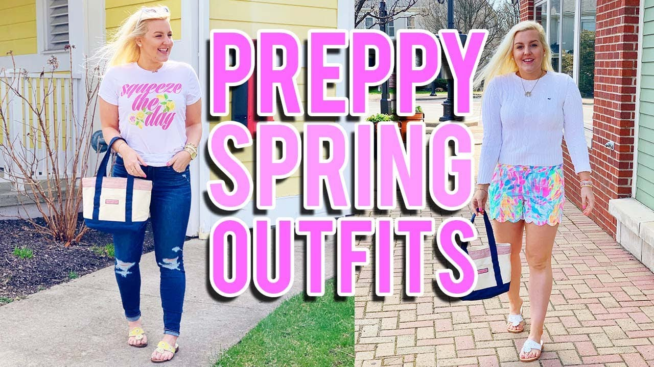 PREPPY SPRING OUTFITS 2019 (Lilly Pulitzer, Vineyard Vines, Jack Rogers)|| Kellyprepster