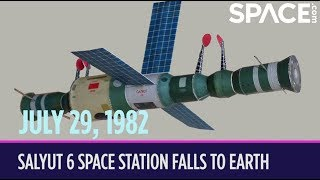 OTD in Space – July 29: Salyut 6 Space Station Falls to Earth