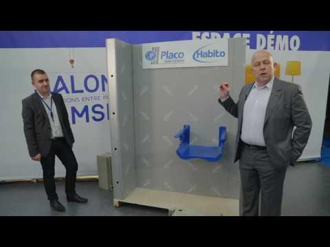 Placoplatre HABITO PLACO SAINT-GOBAIN - Démonstration Salon SAMSE 2017