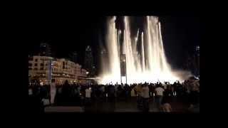 The Dubai Fountain / Wasserspiele am Burj Khalifa in Dubai Teil 1