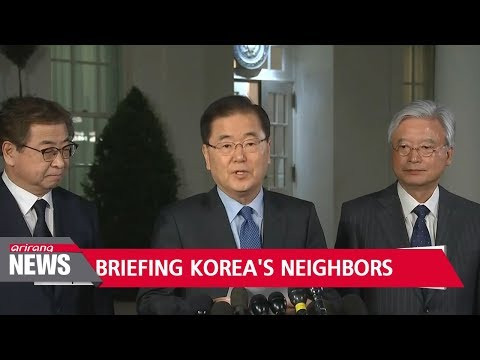 Special envoys make trips to China, Japan, and Russia to give results of their Pyongyang visit