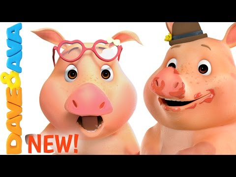 🐷 This Little Piggy | Nursery Rhymes | Nursery Rhymes and Kids Songs from Dave and Ava 🐷