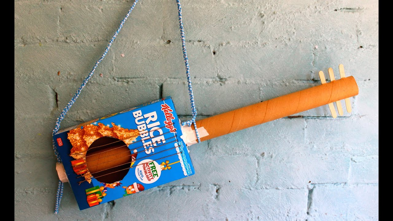 how to make a cereal box guitar - youtube