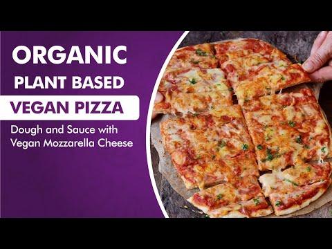 Organic Plant Based Vegan Pizza Dough and Sauce with Vegan Mozzarella Cheese