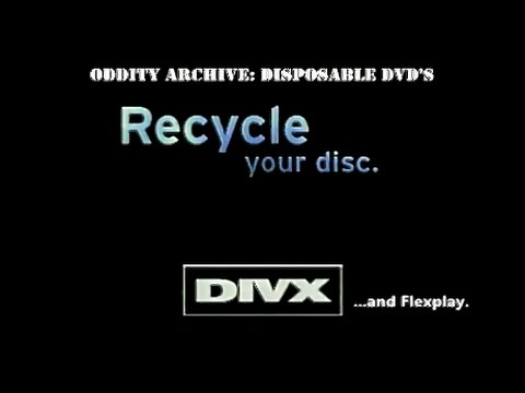 Oddity Archive: Episode 99 – Disposable DVD's (DIVX & Flexpl