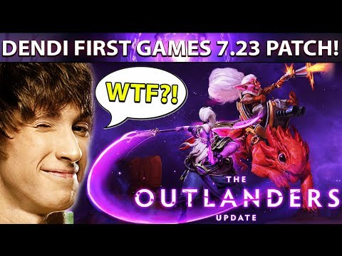 DENDI First Games On New 7.23 Patch - EPIC Gameplay Compilation Dota 2