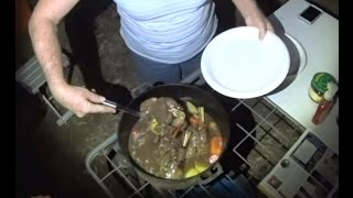 Lamb Shanks, Cooked In A Dutch Oven On The Campfire.