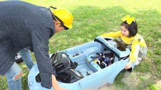 بو لام اللعب مع لعبة السيارات فيديو كامل للأطفال